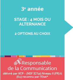 ecole communication post bac+2