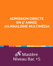ecole journaliste reporter bac 4
