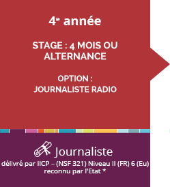 ecole journaliste radio bac 3
