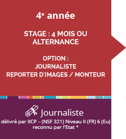 ecole journaliste reporter bac 3