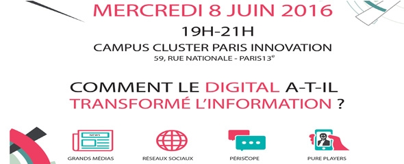 "#Eventplugger - ""Comment le digital a-t-il transformé l'information ?"""